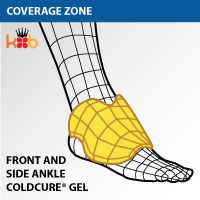 Coverage of the King Brand Ankle Cold Ice Wrap